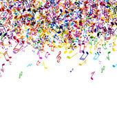 Colores músicanotas — Vector de stock