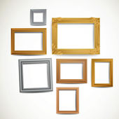 Vintage Picture Frames — Stock Vector