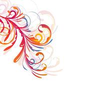 цветочный дизайн — Cтоковый вектор