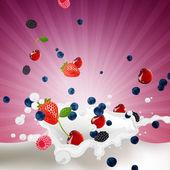 Fresh Berries — Stock Vector
