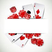 Set of Casino Elements — Stock Vector
