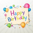 Happy Birthday Greeting Card - Vektorgrafik