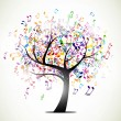Music tree - Image vectorielle