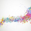 Colorful music notes — Stock Vector #22950898