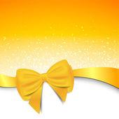 Fundo amarelo com laço — Vetor de Stock