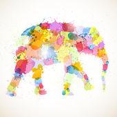 Abstrakte elefant — Stockvektor