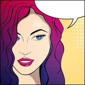 Pop Art Woman — Stock Vector