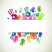 Colorful Handprints — Stock Vector