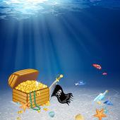 Piratas del tesoro — Vector de stock