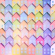 Stock Vector: Colorful Paper Houses