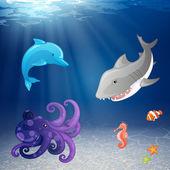 海洋生命 — 图库矢量图片