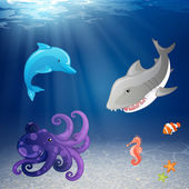 Marine life — Stock vektor