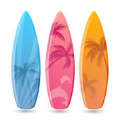 Surfboard Designs — Stock Vector