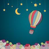 Hot-Air Balloon — Stock Vector