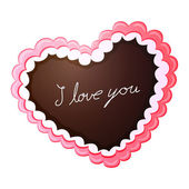 Gingerbread Love Heart — Stock Vector