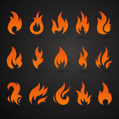 Fire Icons — Stock Vector