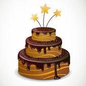 Pastel de chocolate dulce — Vector de stock
