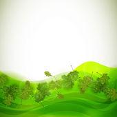 Green leaves — Stockvektor