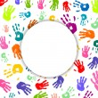 Colorful Hand prints — Imagen vectorial