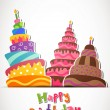 Happy Birthday Card — Imagen vectorial