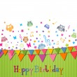 Happy Birthday Card — Stock Vector