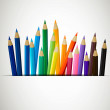Colored Pencils — Stockvektor