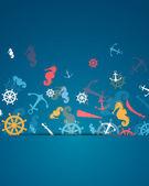 Námořní prvky — Stock vektor