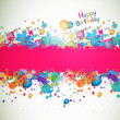Happy Birthday Greeting Card — Image vectorielle