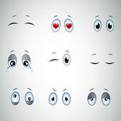 Funny Cartoon Eyes — Stock Vector