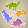 Stock Vector: Cartoon Dinosaurs