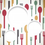 Abstract Cutlery — Stock Vector