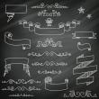 Vintage Chalkboard Elements — Stock Vector