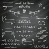 Vintage Chalkboard Elements — Stock Vector