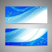 Banners de água azul — Vetorial Stock