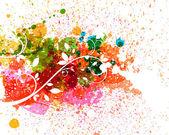 Salpicaduras de colores — Vector de stock