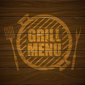 Grill Menu Design Template — Stock Vector