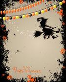 Carta di halloween spaventoso — Vettoriale Stock