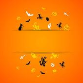 Scary Halloween Card — Stock Vector