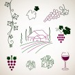 Stock Vector: Wine Elements