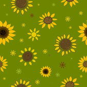 Abstract Sunflowers — Stock Vector