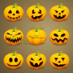 Scary Halloween Pumpkins — Stock Vector #29791493