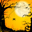 Halloween card — Image vectorielle
