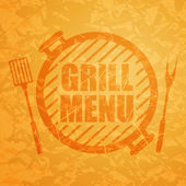 Grill Menu Design Template — Stock Vector