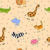 Abstract Cartoon Animals — Stock Vector