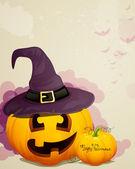 Skrämmande halloween bakgrund — Stockvektor