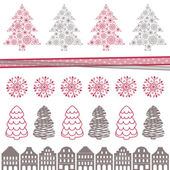 Decorative Christmas Elements — Stock Vector
