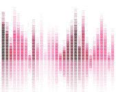 Ecualizador musical — Vector de stock