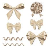 Bows and ribbons — Stock Vector
