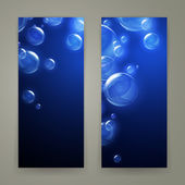 Blue bubbles — Stock Vector