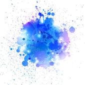 Salpicaduras azules — Vector de stock
